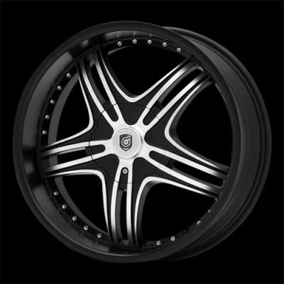 DS09 Matte Black Tires
